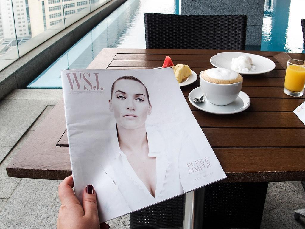 oasia novena singapore pool side breakfast