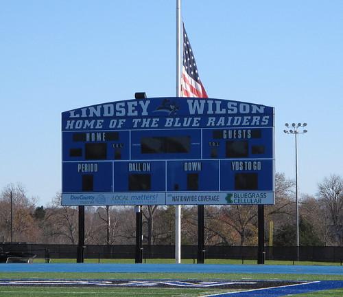 football stadiums kentucky lindseywilsoncollege columbiaky adaircountyky blueraiderstadium lindseywilsonblueraiders