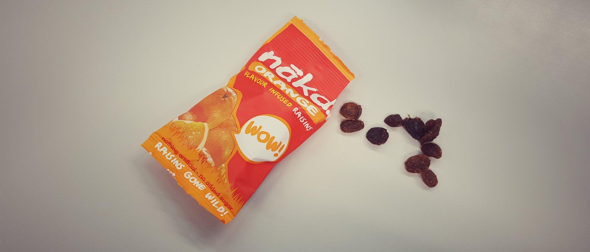 Nakd Flavoured Raisins - Orange
