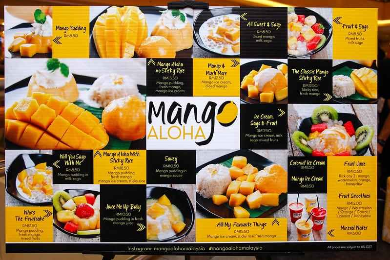 Mango Aloha Menu