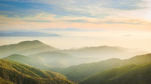 california sunset mist mountains green clouds landscape nikon hills arrowhead sanbernardino rimoftheworld jameshale jimhale shutterjack