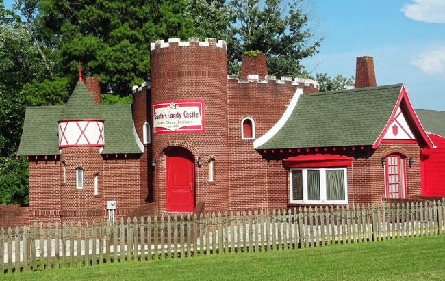 santa claus indiana attractions - candy castle