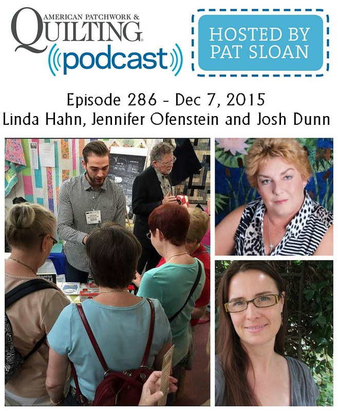 2 American Patchwork Quilting Pocast episode 286 Dec 7 2015