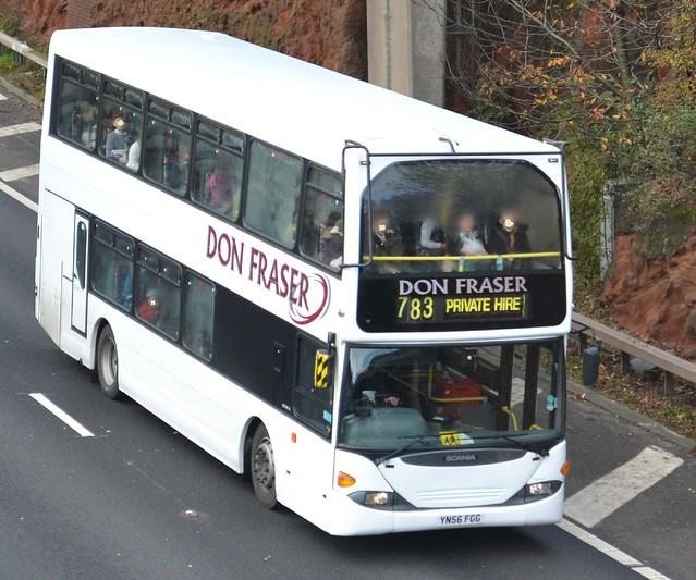Don Fraser Scania YN56FGG - M60, Stockport