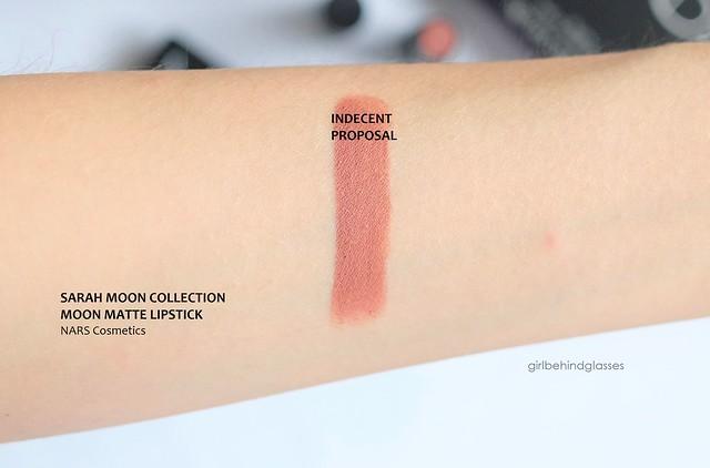 NARS Sarah Moon Matte Lipstick Indecent Proposal swatch
