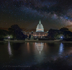 US Capital Reflecting Pool Milky Way