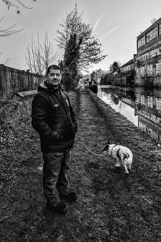 Monochrome Man & Dog