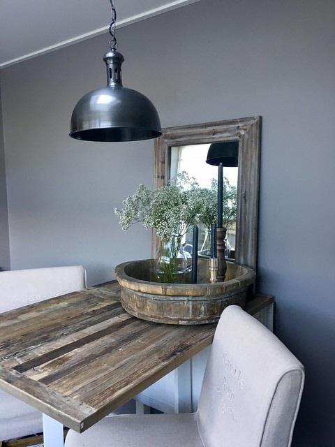 Keuken bar landelijke stijl