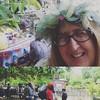 Pre-parade potluck in Metro Star garden - #ilovebeinglocal #artparade #artrisesavannah ##art912  #magicpassionlove
