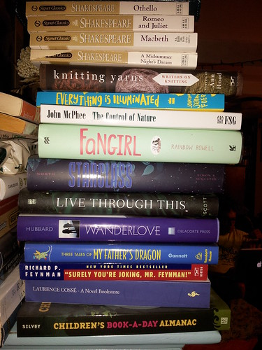 A TBR Pile on a Shelf