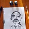 Disegnare visi, occhi e baffi per ricordare la tua voce e il tuo abbraccio. #disegni #ritratti #papà