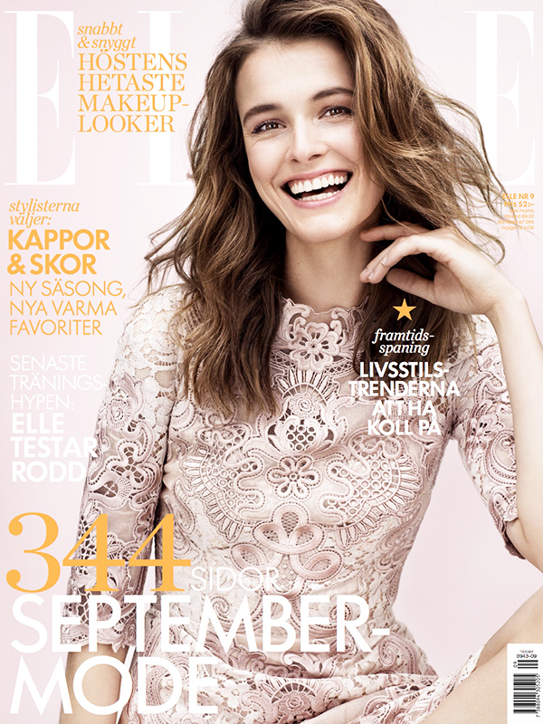 ELLE SWEDEN SEPTEMBER 2015 COVER