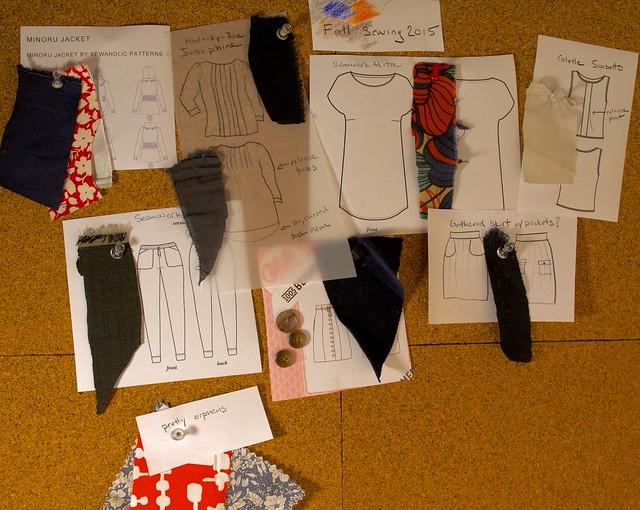 Fall Sewing idea board