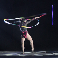 rings(0.0), sports(1.0), performing arts(1.0), gymnastics(1.0), gymnast(1.0), performance(1.0), acrobatics(1.0), rhythmic gymnastics(1.0), performance art(1.0),