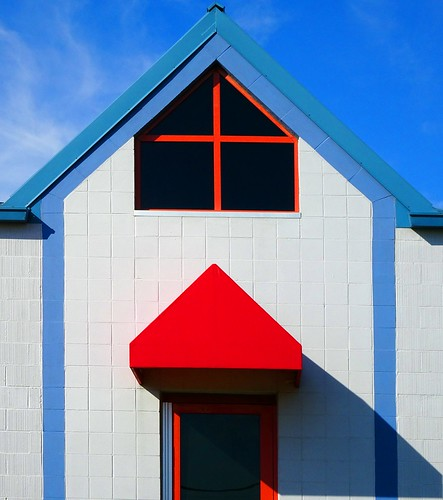 Blue & Red building