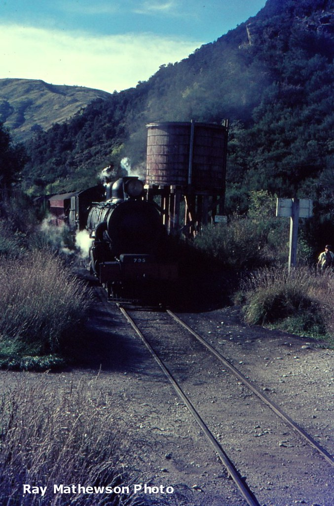 Roxburgh Branch : Ab 795 taking water at Beaumont