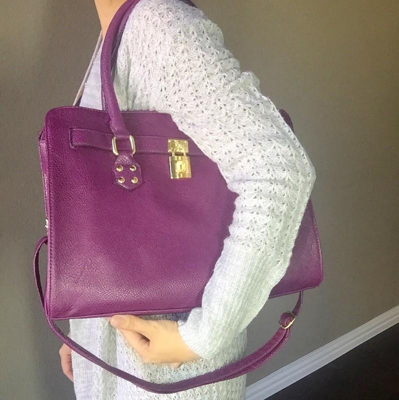 Purple knock off michael hors purse at walmart fashion