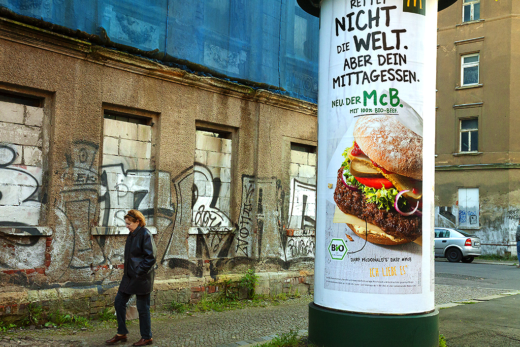 McDonald's ad--Leipzig