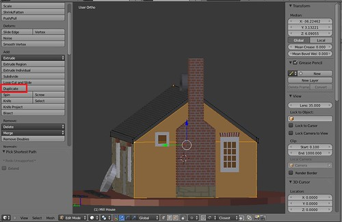 3D Printing - Mill House - Duplicate Vertices