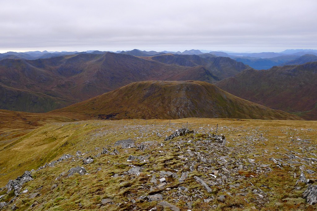Sgurr Gaorsic and the Kintail Hills