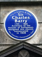Photo of Charles Barry blue plaque