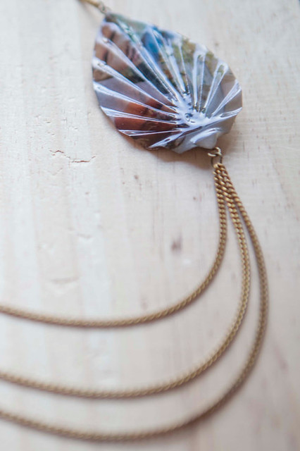 Origami Leaf Necklace