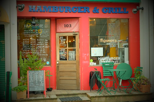a hamburger shop