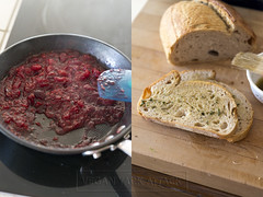 Cranberry Relish // Garlic Herb Buttered Bread