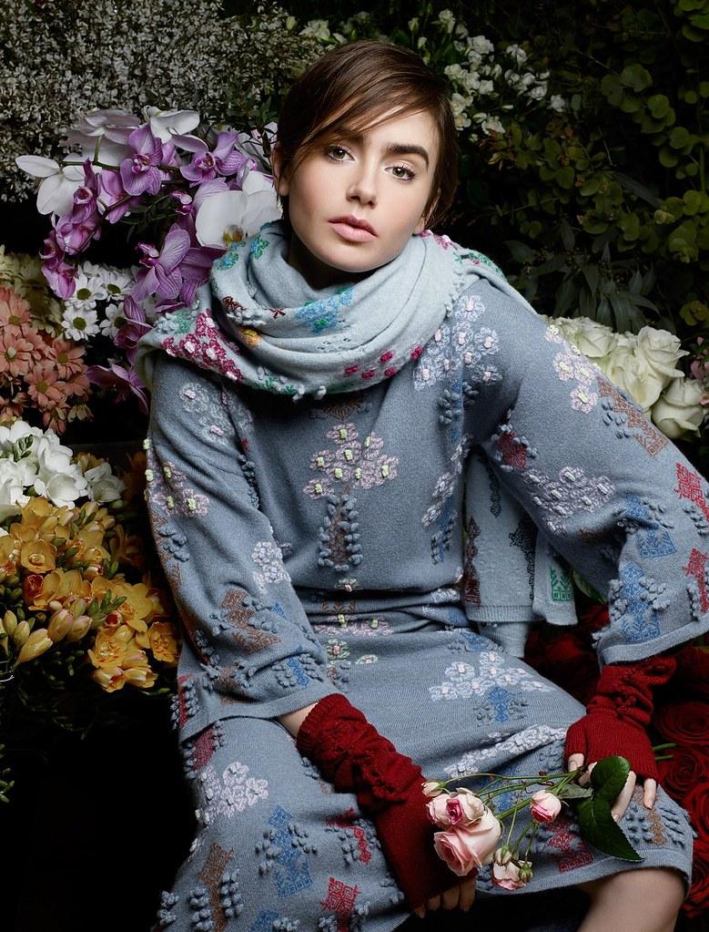 Лили Коллинз — Фотосессия для «Barrie» 2015 – 4
