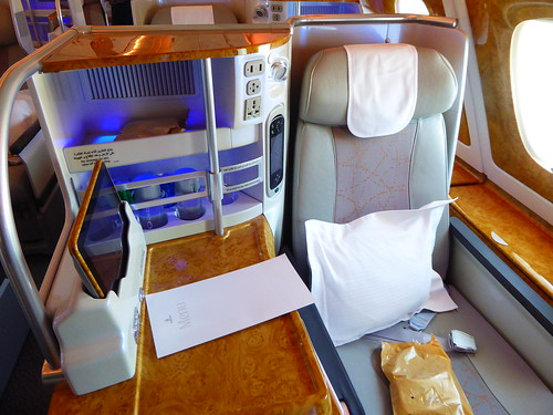 Emirates Airbus 380-800 Business Class Seat