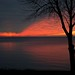 """Giant """"check mark""""  on this Lake Ontario sunrise!!! by dcws101"""