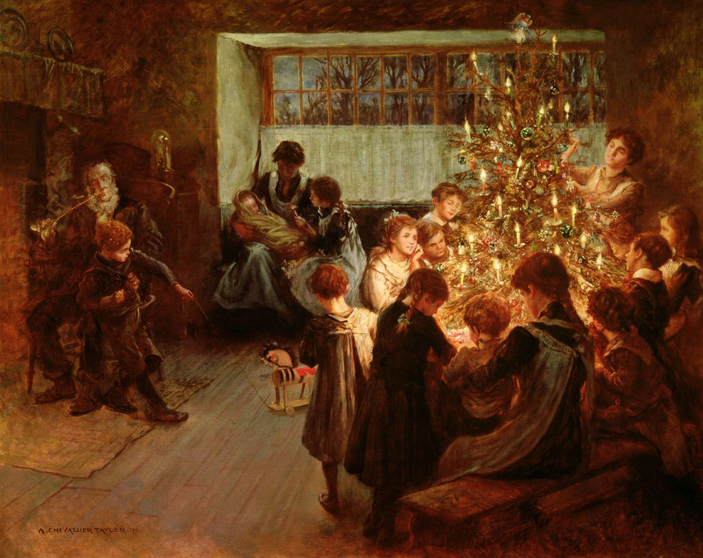 The Christmas Tree by Albert Chevallier Tayler - 1911