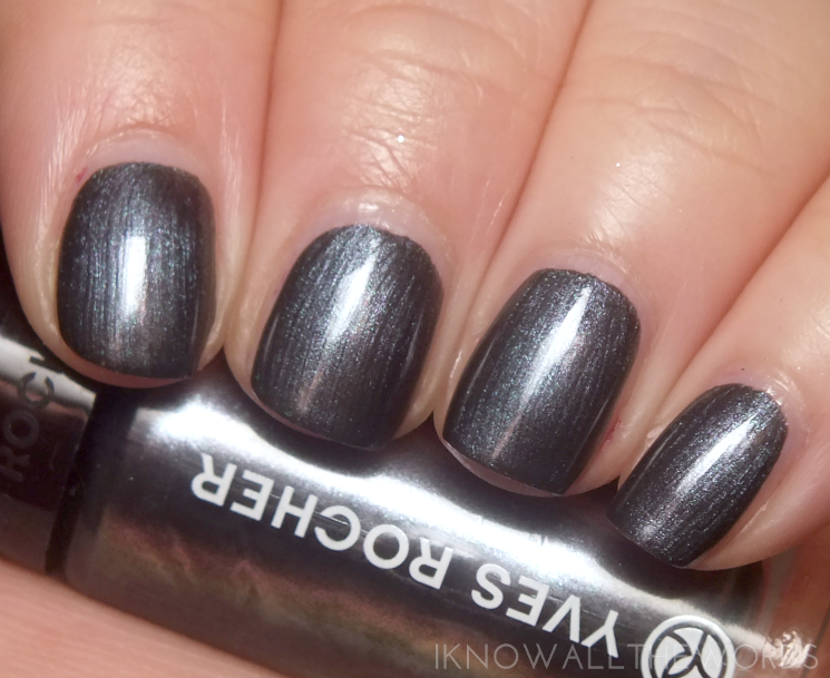 Yves Rocher Holiday 2015 Botanical Nail Colour Pearly Charcoal Grey