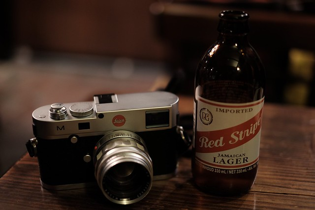 Red stripe with Leica