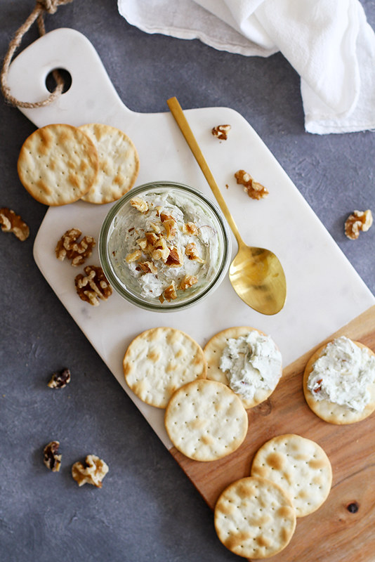Nutty Blue Cheese Spread | girlversusdough.com @girlversusdough