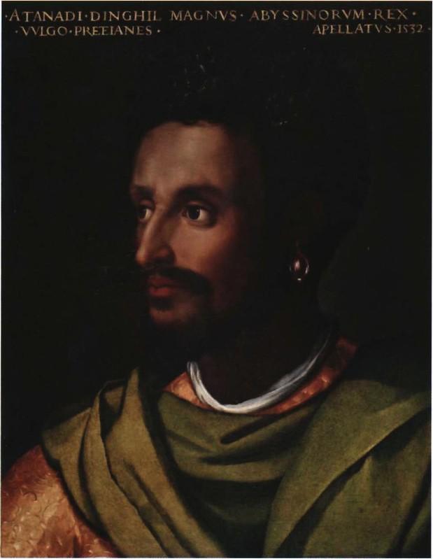 Potrait of Emperor Dawit II by Italian painter Cristofano dell'Altissimo