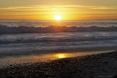 Sunset and waves....