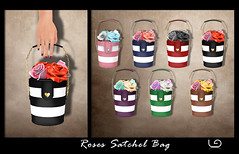 LaGyo_Roses Satchel Bag for Shiny Shabby