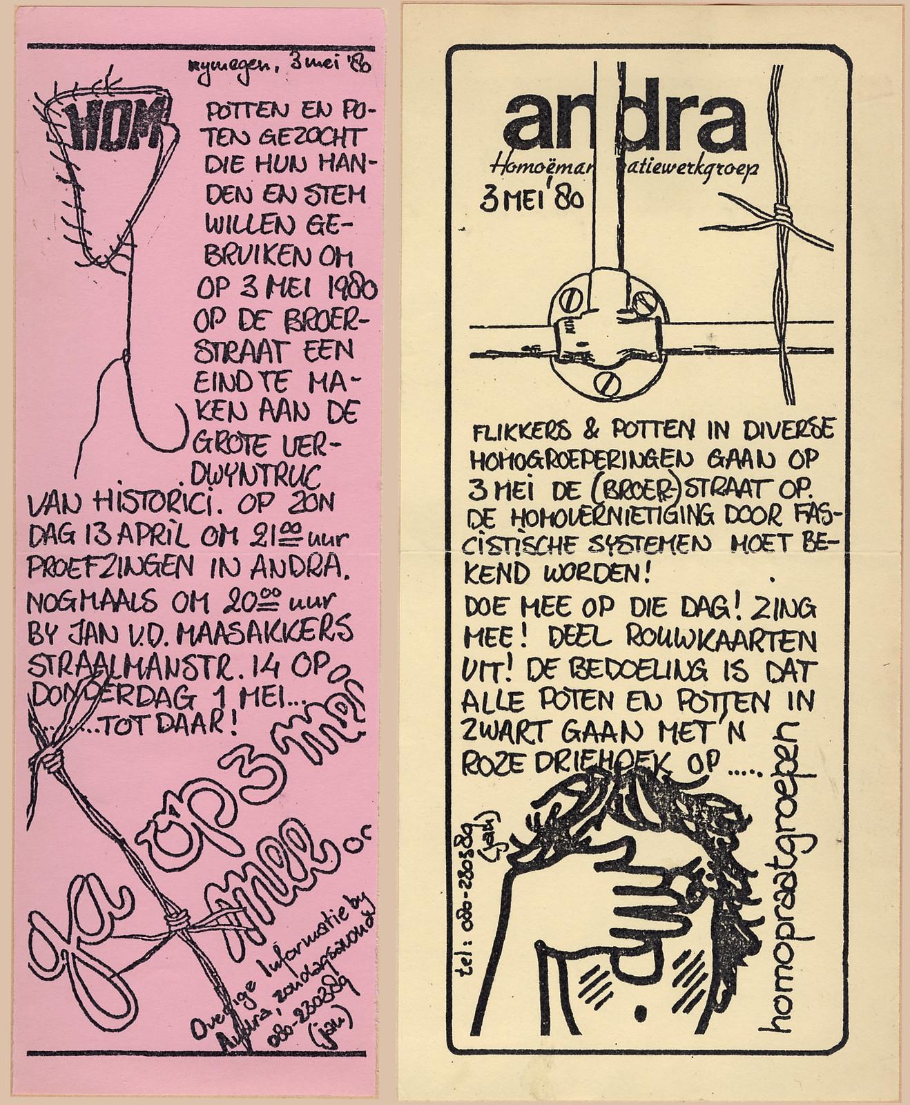 ANDRA-sticker actie Broerstraat 3 mei 1980