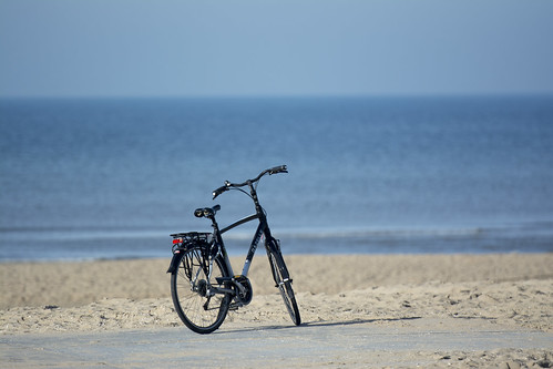 Lonely bike on the beach (on Explore)