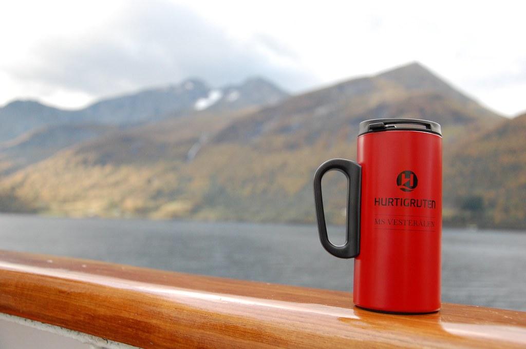 Taza en los cruceros Hurtigruten