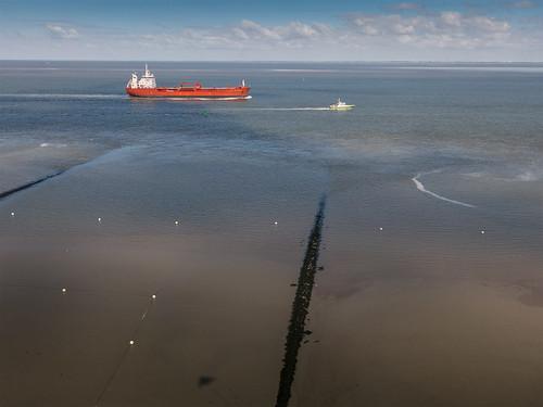 Altenbruch-Schiff auf der Elbe