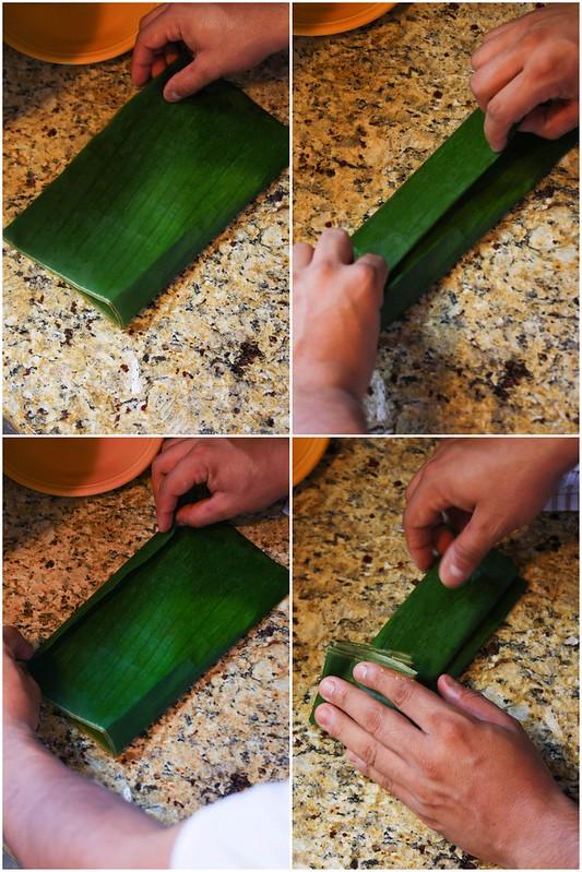 Folding tamales; Part 1