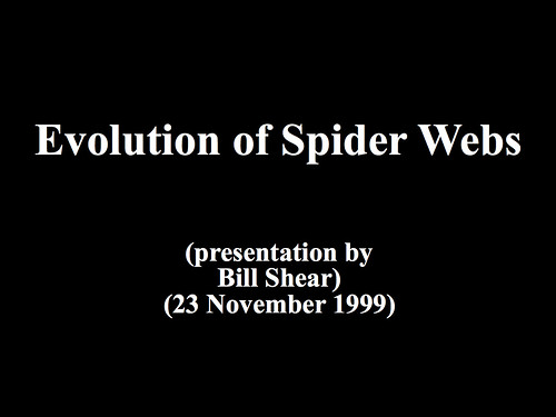 Evolution of Spider Webs