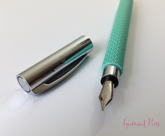 Review Faber-Castell Ambition OpArt Aqua Fountain Pen @goldspotpens @FaberCastell (14)
