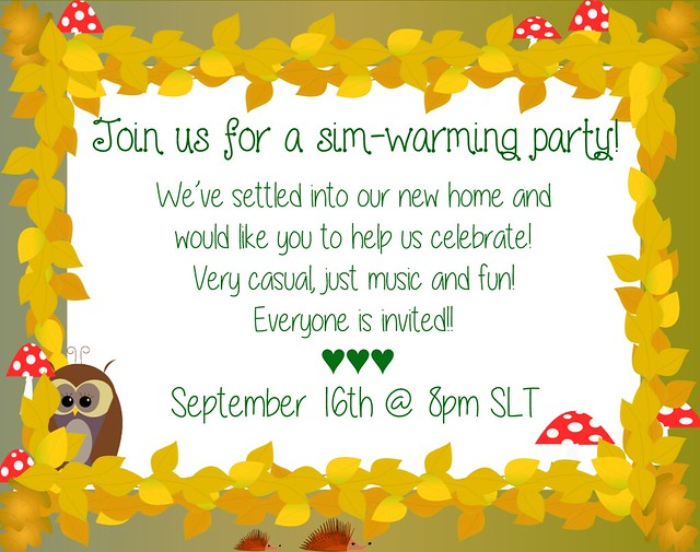 Sim-warming Party Invitation!