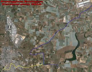 Casamassima-Passeggiata ecologica, appuntamento al 4 ottobre-Percorso Passeggiata ecologica in bicicletta