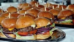 slider(0.0), submarine sandwich(0.0), breakfast sandwich(0.0), sandwich(1.0), meal(1.0), hamburger(1.0), meat(1.0), food(1.0), dish(1.0), fast food(1.0), cheeseburger(1.0),