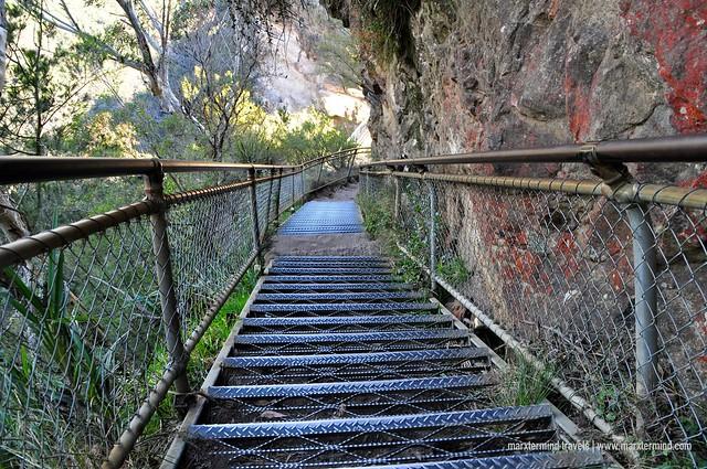 Stairway to Honeymoon Bridge Three Sisters