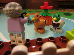 Lego Duplo Mallard Duck, Drake and Ducklings